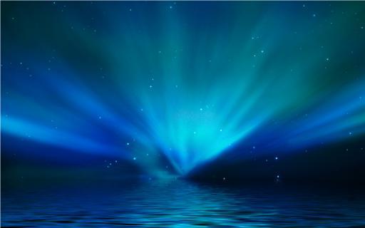 lichtspiel blau hintergrund