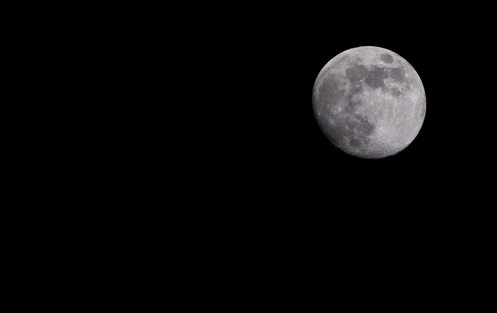 Mond an meinem geburtstag