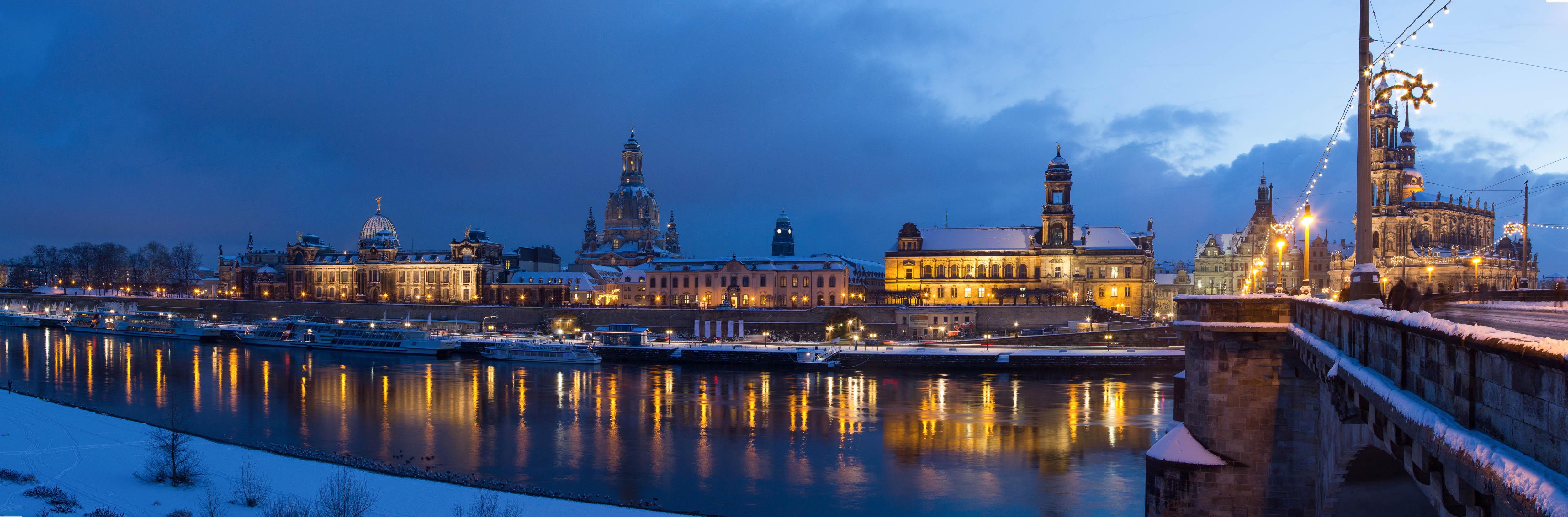 Dresden Panorama mit Schnee (nicht gestern)   Wallpaper   Galerie ...