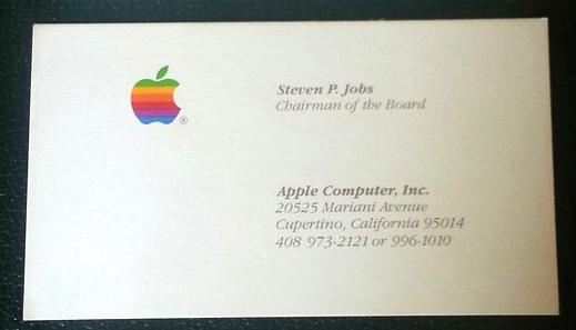 Steve Jobs Visitenkarten Unter Dem Hammer News
