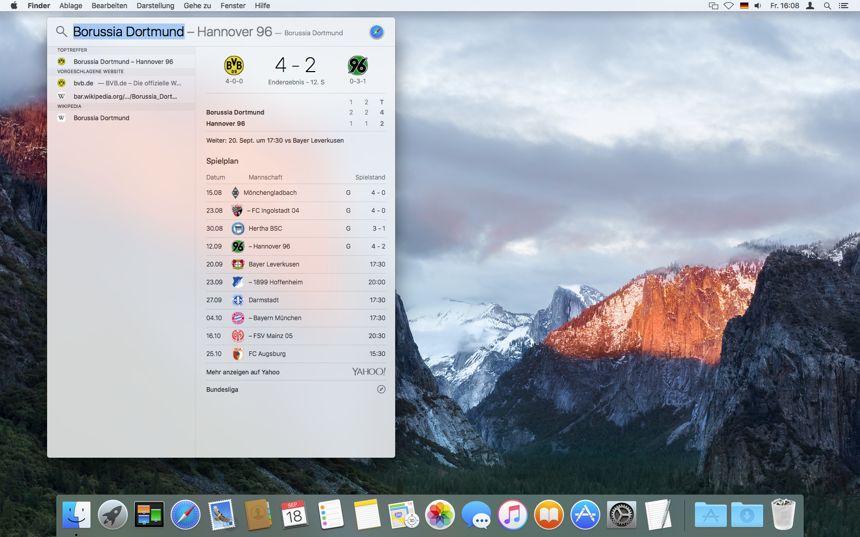 Os x el capitan im detail leistung funktionen for Fenster yosemite