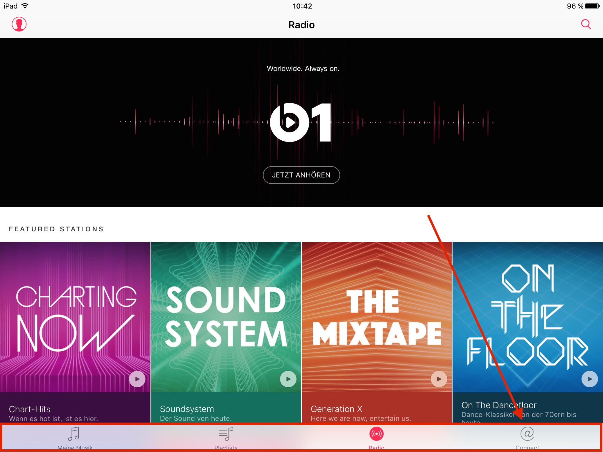 tipp f r ios in der musik app die symbolzeile aufr umen news. Black Bedroom Furniture Sets. Home Design Ideas