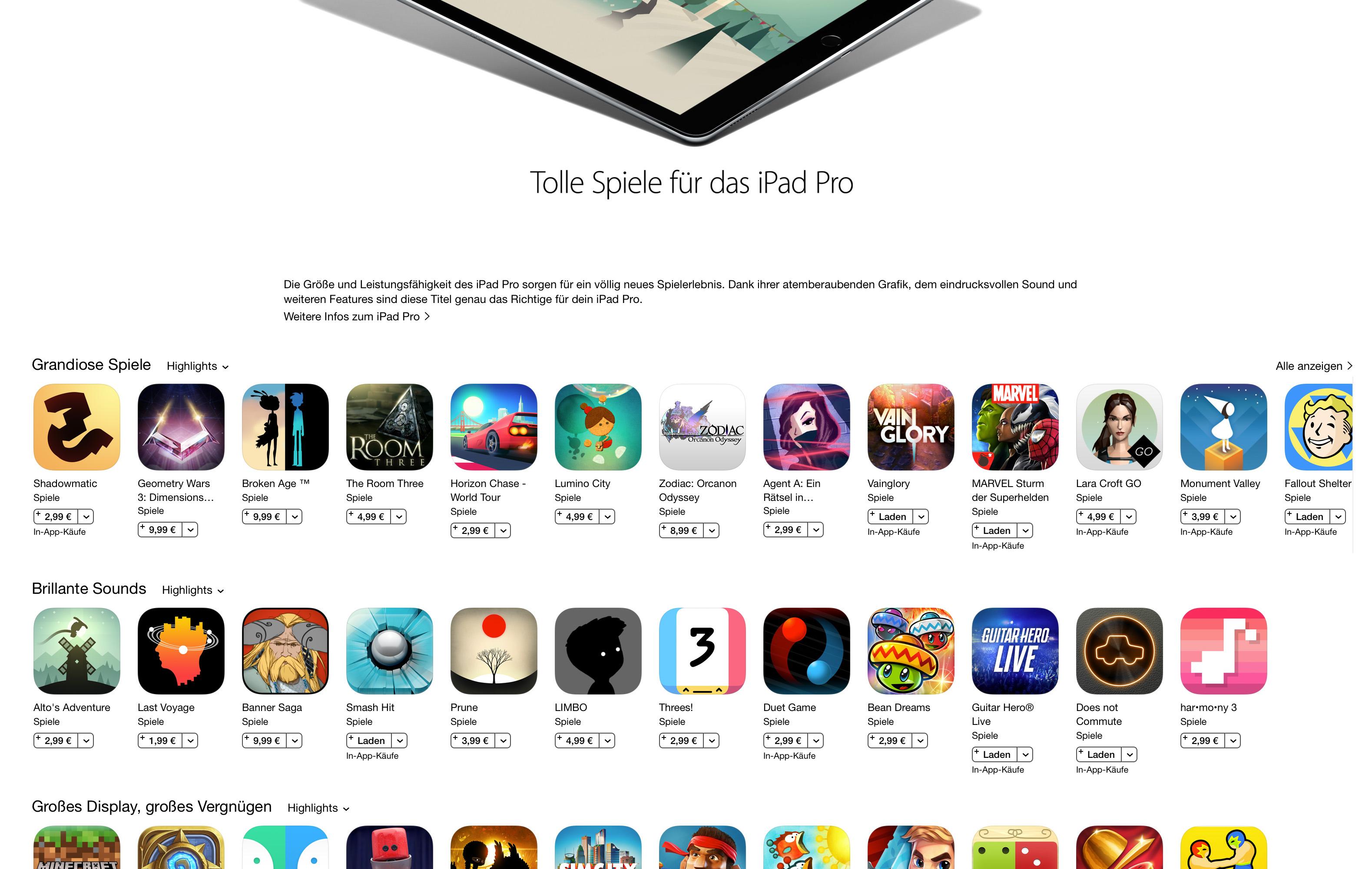 iPad Pro: Optimierte Apps und Spiele im Überblick | News ...
