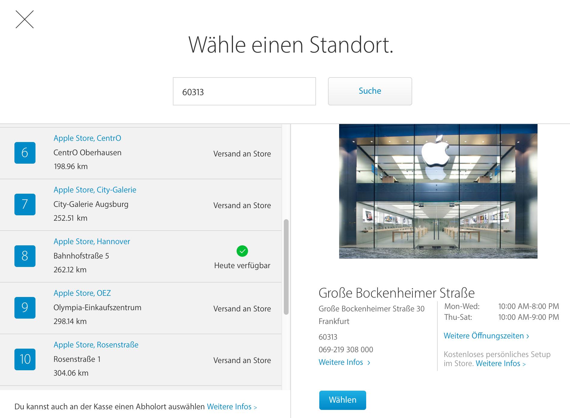 online kauf im apple store abholen jetzt auch in deutschland news. Black Bedroom Furniture Sets. Home Design Ideas