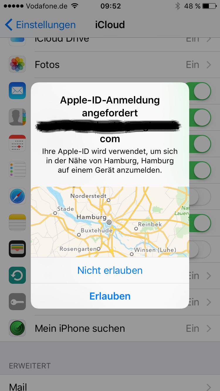 neue apple id am iphone einstellen
