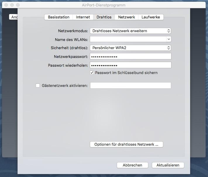 Favorit Time Capsule an bestehendes Netzwerk anbinden | Netzwerk CE64
