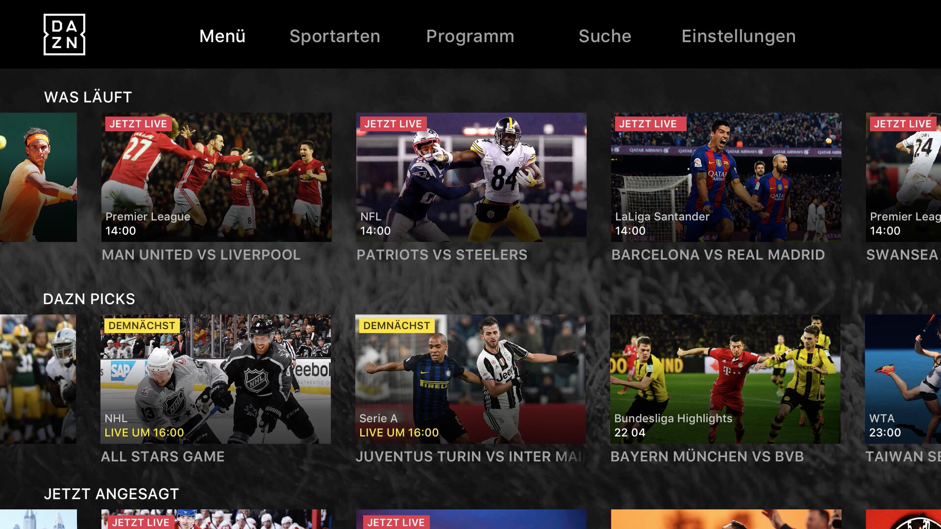 how to get dazn on apple tv
