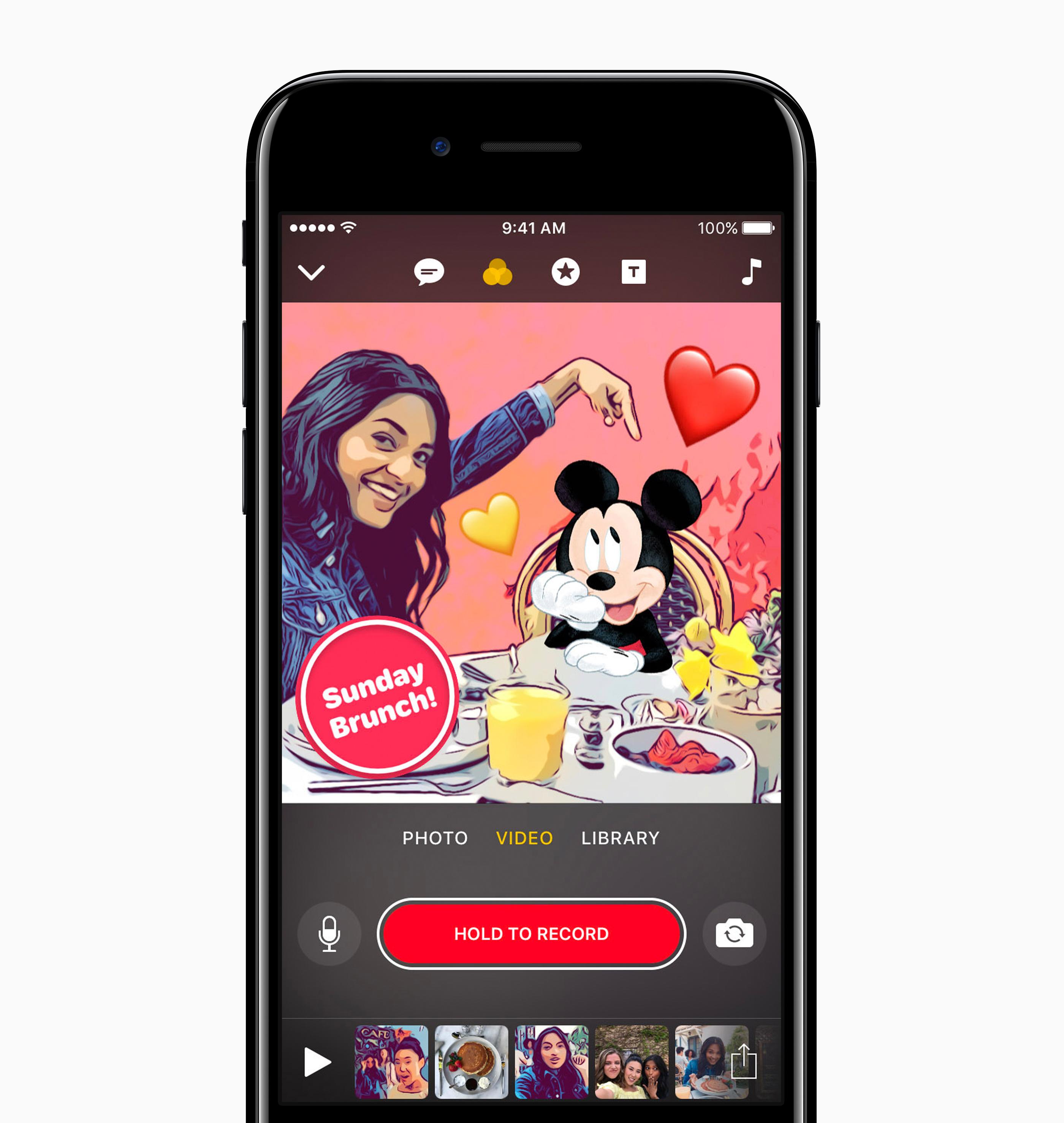 Clips: Video-App von Apple jetzt mit Disney- und Pixar-Charakteren