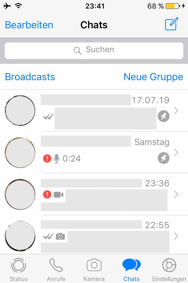 Ausrufezeichen whatsapp rotes bei Was bedeutet