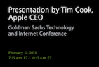 "Bild zur News ""Tim Cook spricht morgen auf der Goldman Sachs Technology and Internet Conference - Live Stream"""