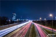 Vienna light trails
