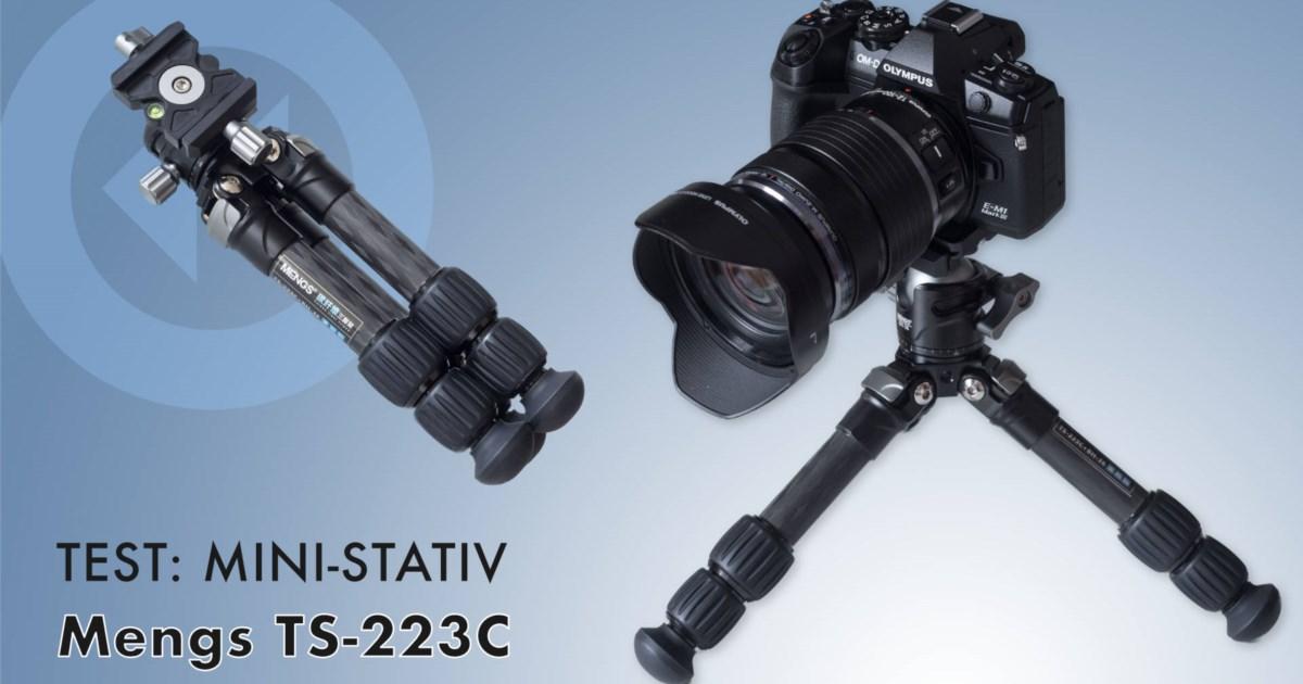Test Mini-Stativ Mengs TS-223C Set: Drei kurze Carbon-Beine für zahlreiche Einsatzmöglichkeiten