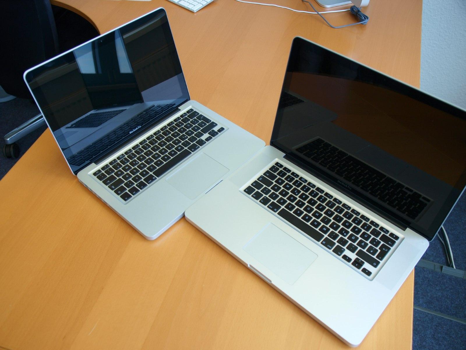 macbook pro 13 zoll und macbook pro 15 zoll news. Black Bedroom Furniture Sets. Home Design Ideas